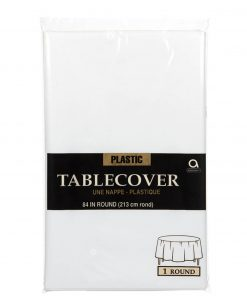 Plastic Round Tablecover Frosty White
