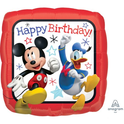 Mickey Roadster Happy Birthday Foil