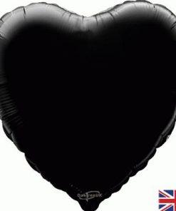 """18"""" Black Heart Foil"""