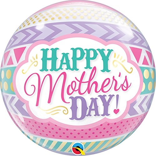 """22"""" Mother's Day Dots and Stripes Bubble"""