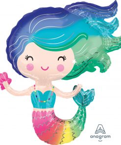 "29"" Colourful Mermaid SuperShape Foil"