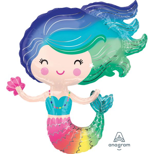 "29"" Colourful Mermaid SuperShape Foil"