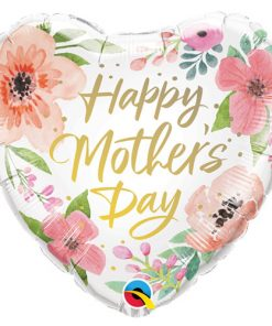 "18"" Mother's Day Pink Floral Foil"