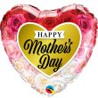 "18"" Mother's Day Roses Gold Heart Foil"