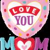 """33"""" Love You Mum Dots Foil"""