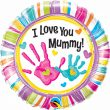 "18"" I Love You Mummy Handprints Foil"
