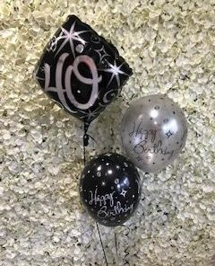 Three Balloon Display including 18 Inch Foil