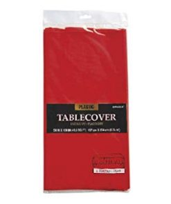 Plastic Rectangular Tablecover Apple Red