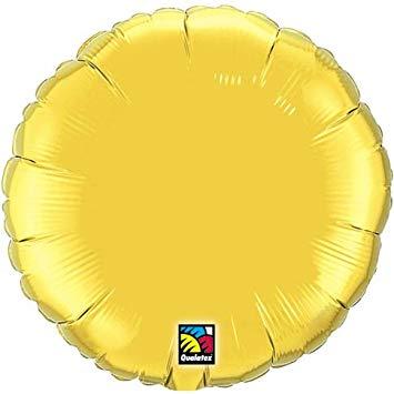 """36"""" Round Metallic Gold Plain Foil"""