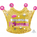 Happy Birthday Gold Crown