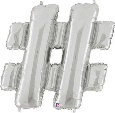 Air Filled 14 Inch Silver Letter #