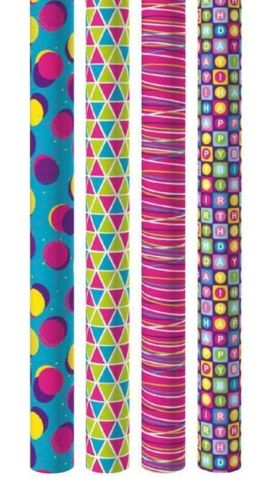 Giftmaker Everyday Gift Wraps - Brights Mix