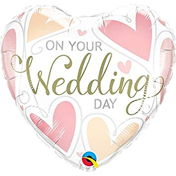 On Your Wedding Day Hearts Foil
