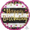 Pink Gold Happy Birthday Foil