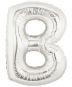 """Megaloon 40"""" Letter B Silver"""