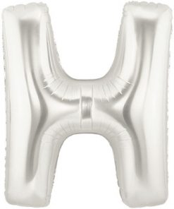 """Megaloon 40"""" Letter H Silver"""