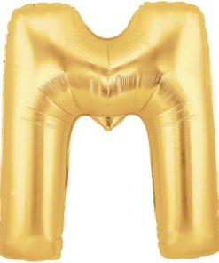 "Megaloon 40"" Letter M Gold"