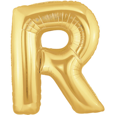 "Megaloon 40"" Letter R Gold"