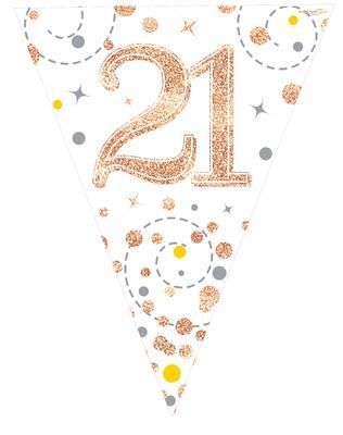 Sparkling Fizz 21 White Rose Gold Holographic Flag
