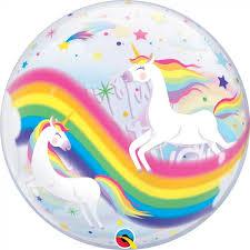 Birthday Rainbow Unicorn Bubble