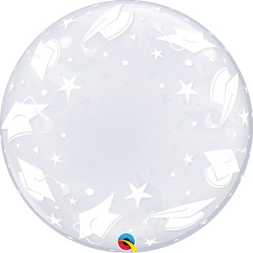 Deco Bubble Clear Graduation Caps