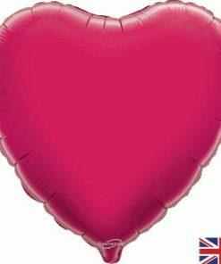 Fuchsia Heart Foil