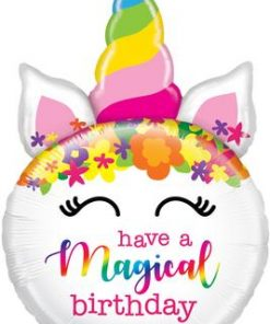 Mighty Birthday Unicorn Shape Foil