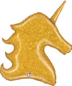 Gold Glitter Unicorn Holographic Shape Foil