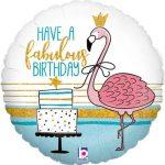 Fabulous Flamingo Birthday Holographic Foil