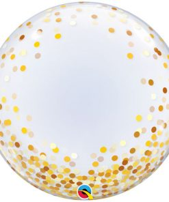Deco Bubble Gold Confetti Dots