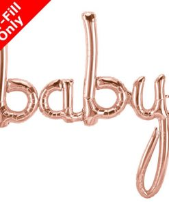 Air Fill Baby Rose Gold Script Foil