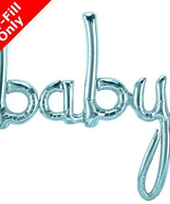 Air Fill Baby Pastel Blue Script Foil