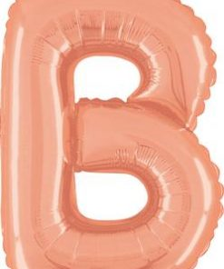 14inch Air Filled Letter B Rose Gold Foil