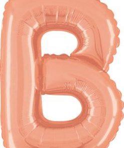 14inch Air Filled Letter B Rose Gold Foil