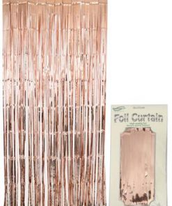 Foil Door Curtain Metallic Rose Gold