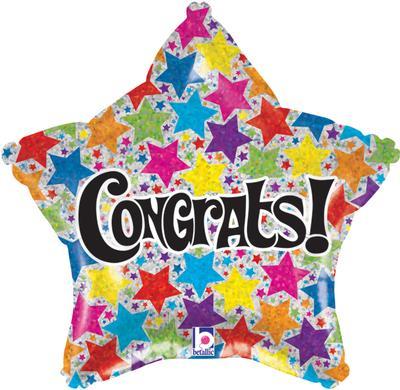 Congrats Stars Holographic Foil