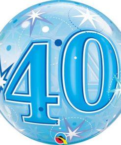 40 Blue Starburst Sparkle Single Bubble