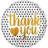 Thank You Modern Dots Foil