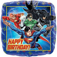 Justice League Birthday Square Foil