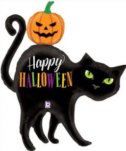 Halloween Black Cat Shape Foil