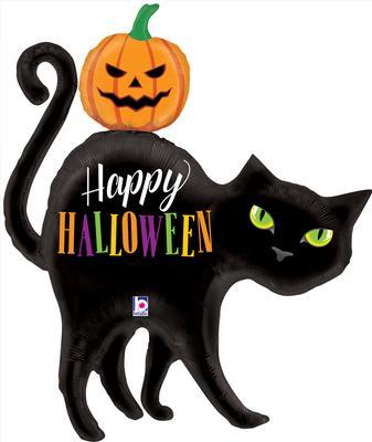 Halloween Black Cat Shape Foil