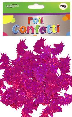 Holographic Foil Unicorn Confetti Fuchsia