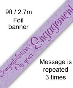 Congratulations on Your Engagement Banner