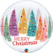 Christmas Trees and Snowflakes Bubble