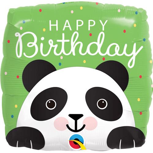 Birthday Panda Square Foil