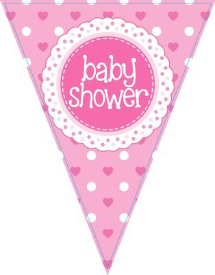 Party Bunting Baby Shower Pink
