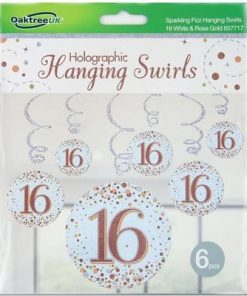 Hanging Swirls Rose gold 16