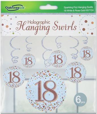 Hanging Swirls Rose gold 18