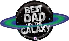 Galactic Dad Holographic Shape Foil