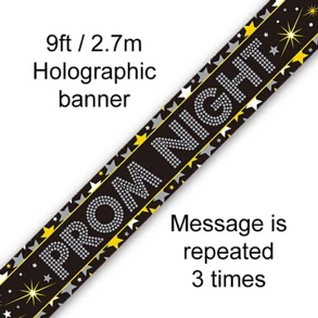 Prom Night Stars Holographic Banner